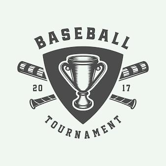 Logo de sport de baseball, emblème