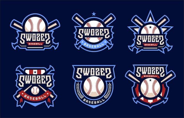 Logo sport de baseball swozes