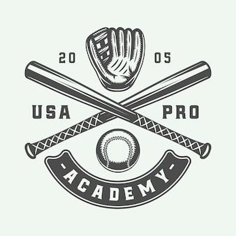 Logo de sport de baseball vintage, emblème