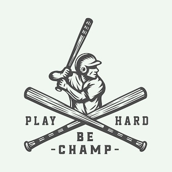 Logo de sport de baseball vintage