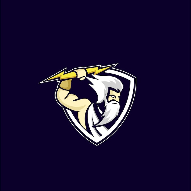 Logo de sport dieu zeus