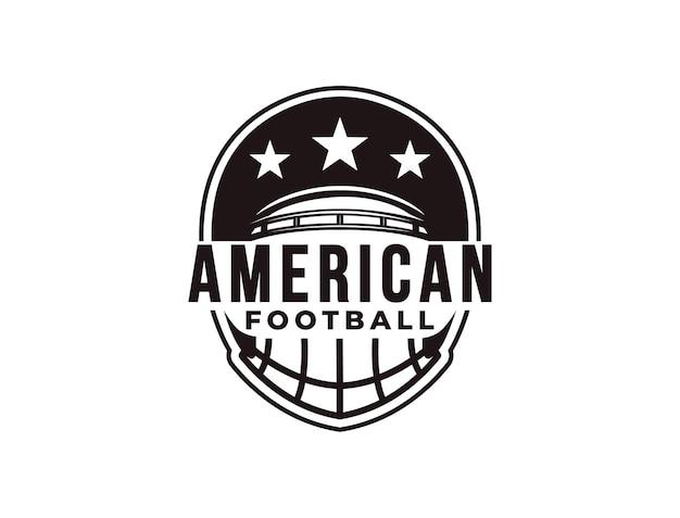 Logo de sport de football américain emblème avec casque de football