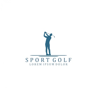 Logo de sport de golf