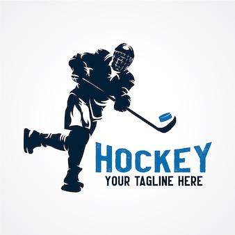 Logo de sport hockey vecteur de vecteur premium