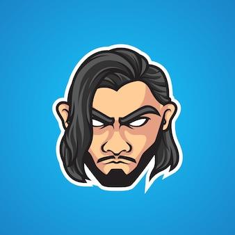 Logo sport homme style cheveux longs