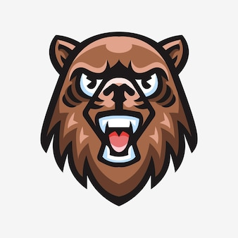 Logo sport mascot illustration d'ours