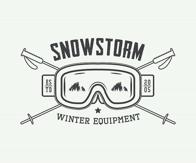 Logo de sports d'hiver vintage