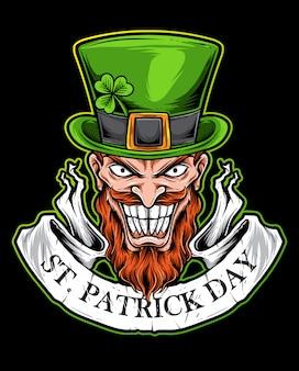 Logo st patrick day effrayant
