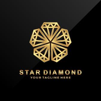 Logo star diamond