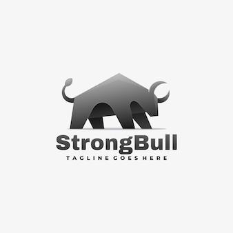 Logo strong bull gradient style.