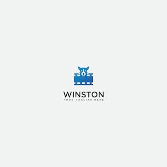 Logo studio bébé chien, logo vidéo chien