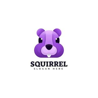 Logo de style coloré dégradé d'écureuil
