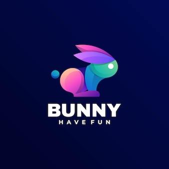 Logo de style coloré dégradé de lapin