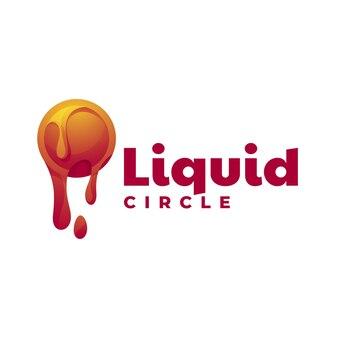 Logo style coloré dégradé liquide