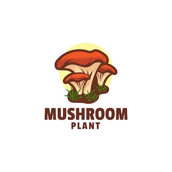 Logo de style mascotte simple champignon