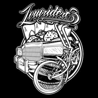 Logo de style de vie low rider
