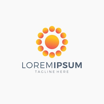 Logo sun couleur orange