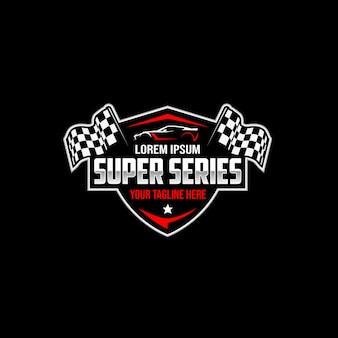 Logo super série automobile