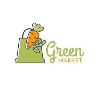 Logo de supermarché vert