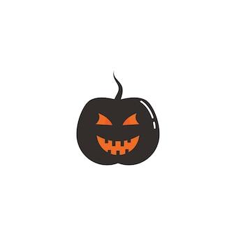 Logo et symbole d'horreur de visage d'halloween