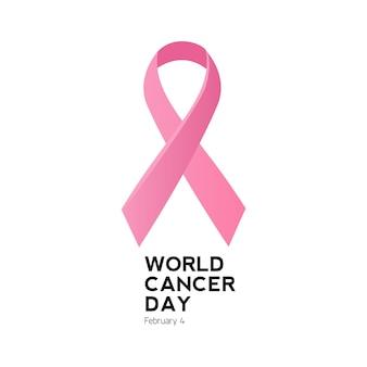 Logo et symbole de la journée mondiale contre le cancer