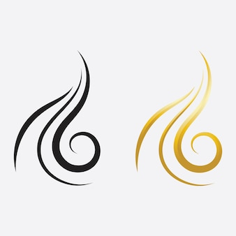 Logo et symboles de femme et de visage de cheveux