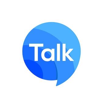 Logo talk parler discours chat bulle icône logo signe vecteur