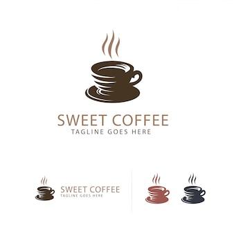 Logo de la tasse de café sucrée