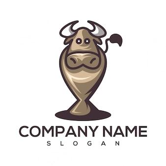 Logo de tasse de vache