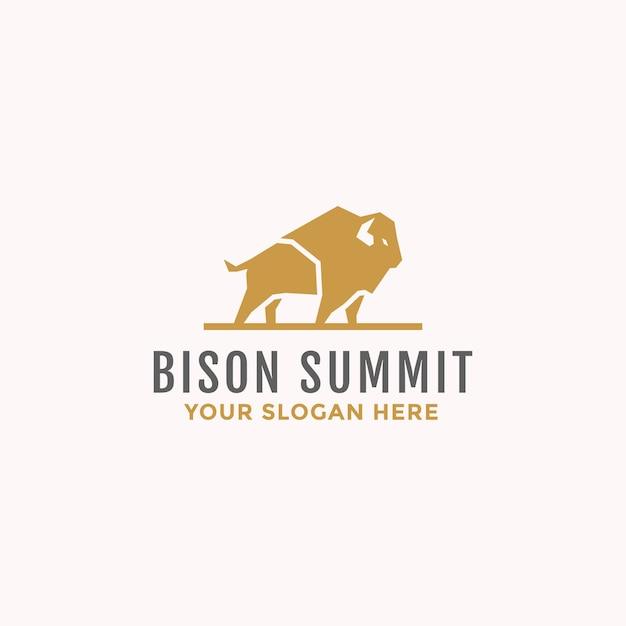Logo de taureau bison