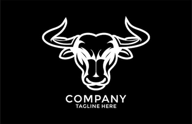 Logo de taureau fort moderne