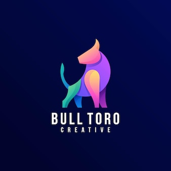 Logo taureau style coloré