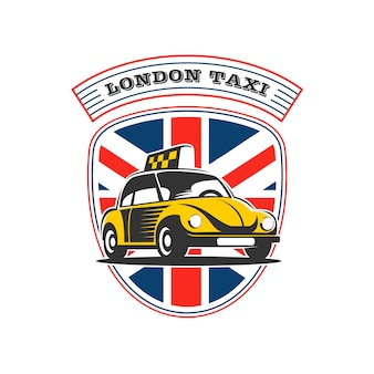 Le logo d'un taxi rétro.