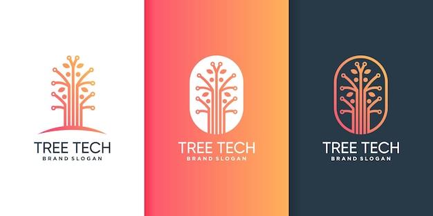Logo de technologie d'arbre