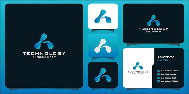 Logo de technologie et carte de visite