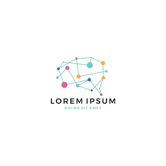 Logo de technologie cérébrale