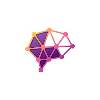 Logo de technologie de cerveau