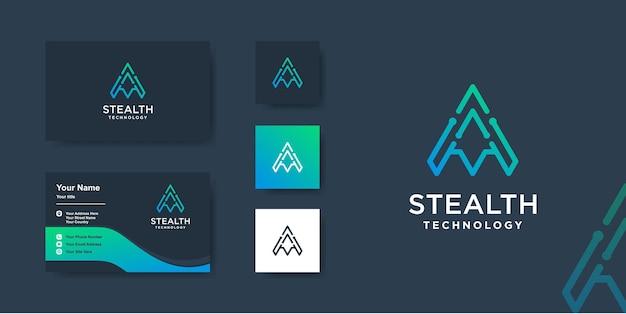 Logo de la technologie avec un concept unique moderne vecteur premium