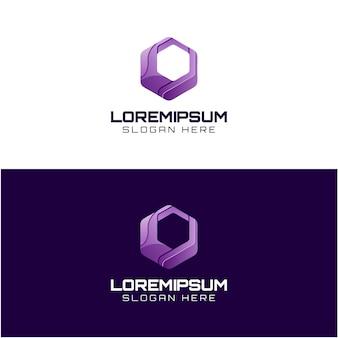 Logo de technologie couleur impressionnante