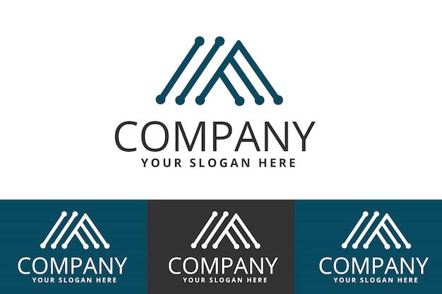 Logo de la technologie créative isolé sur fond blanc