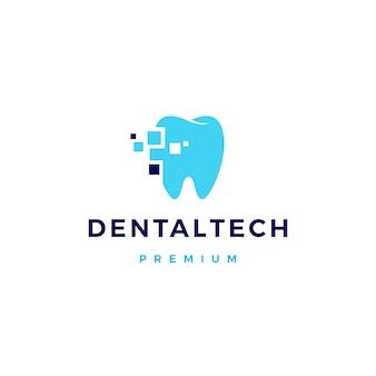 Logo de technologie dentaire pixel