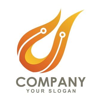 Logo de technologie incendie
