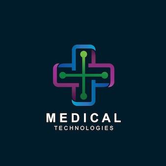 Logo de technologie médicale croisée