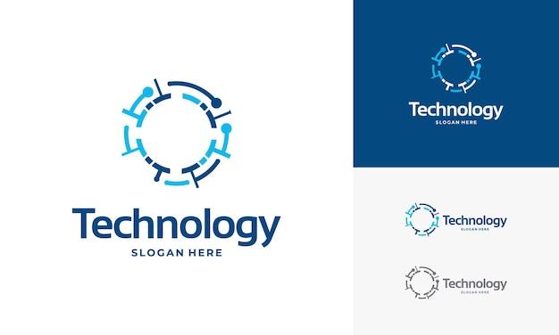 Le logo de la technologie pixel conçoit le vecteur de concept, le symbole du logo internet du réseau, le logo digital wire