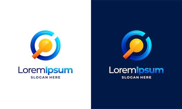 Le logo de la technologie pixel moderne conçoit le vecteur de concept, symbole du logo internet du réseau