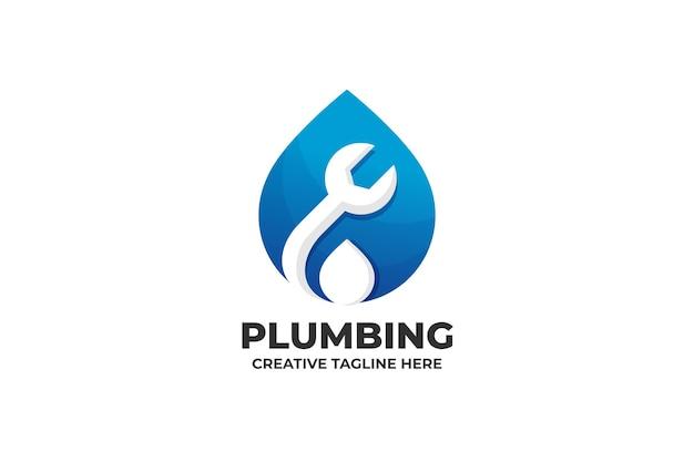 Logo de technologie de service de plomberie