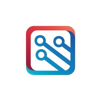 Logo de la technologie vector