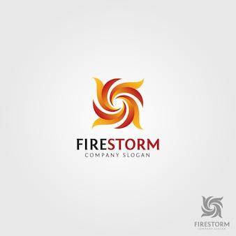 Logo de tempête de feu