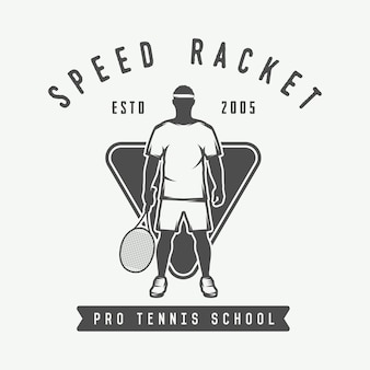 Logo de tennis, badge