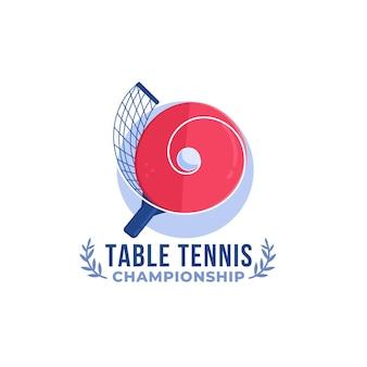 Logo de tennis de table de conception détaillée